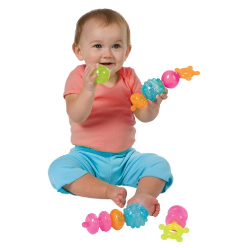 First Pops Shapes Linking Baby Toy
