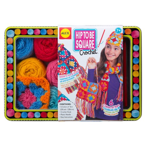 Hip to Be Square Crochet Girls Craft
