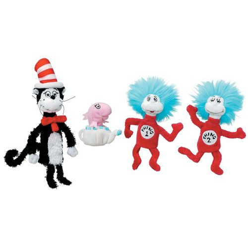 The Cat in the Hat 4 Finger Puppets Set