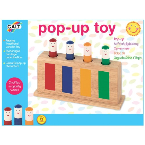 Pop Up Wooden Toy