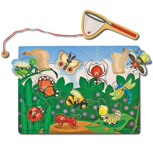Bug Catching Game Wooden Magnetic Puzzle