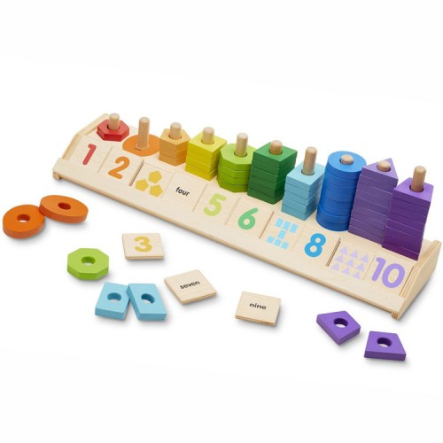 Counting Shape Stacker Early Math Learning Activity Toy