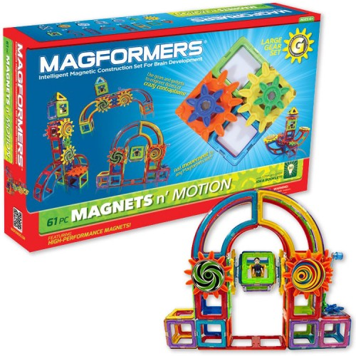 Magformers 61 pc Large Gear Magnetic Building Set