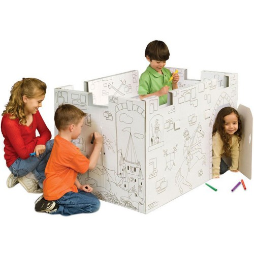 Coloring Play Castle Playhouse