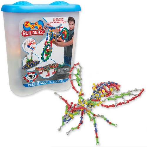 Zoob 250 pc Moving Building Set in a Storage Tub