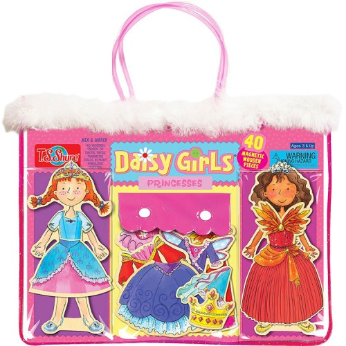 Daisy Girls Princesses Magnetic Wooden Dress-Up Dolls